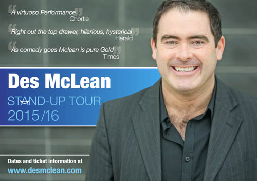 Des McLean Stand Up Tour 2015/16